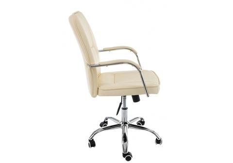Офисное кресло для персонала и руководителя Компьютерное Nadir бежевое 57*57*93 Хромированный металл /Бежевый