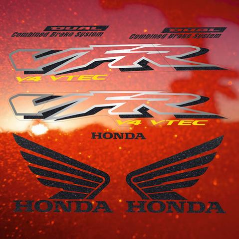 Набор наклеек на мотоцикл HONDA VFR 800I 2002 (красная версия)