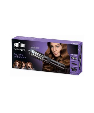Фен-щетка Braun Satin Hair 3 AS330, 400 Вт, черная