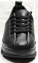 Женские кожаные кроссовки туфли на шнурках Mario Muzi 1350-20 Black.