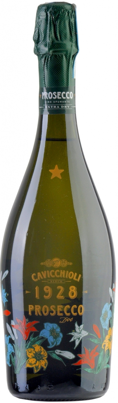 Вино игристое Кавиккьоли Просекко белое брют 0,75л