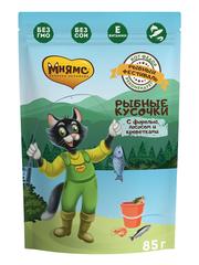 Пауч для кошек Мнямс  Рыбный фестиваль (лосось, креветки, форель)