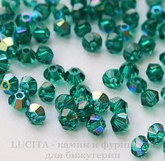 5328 Бусина - биконус Сваровски Emerald AB 3 мм, 10 штук
