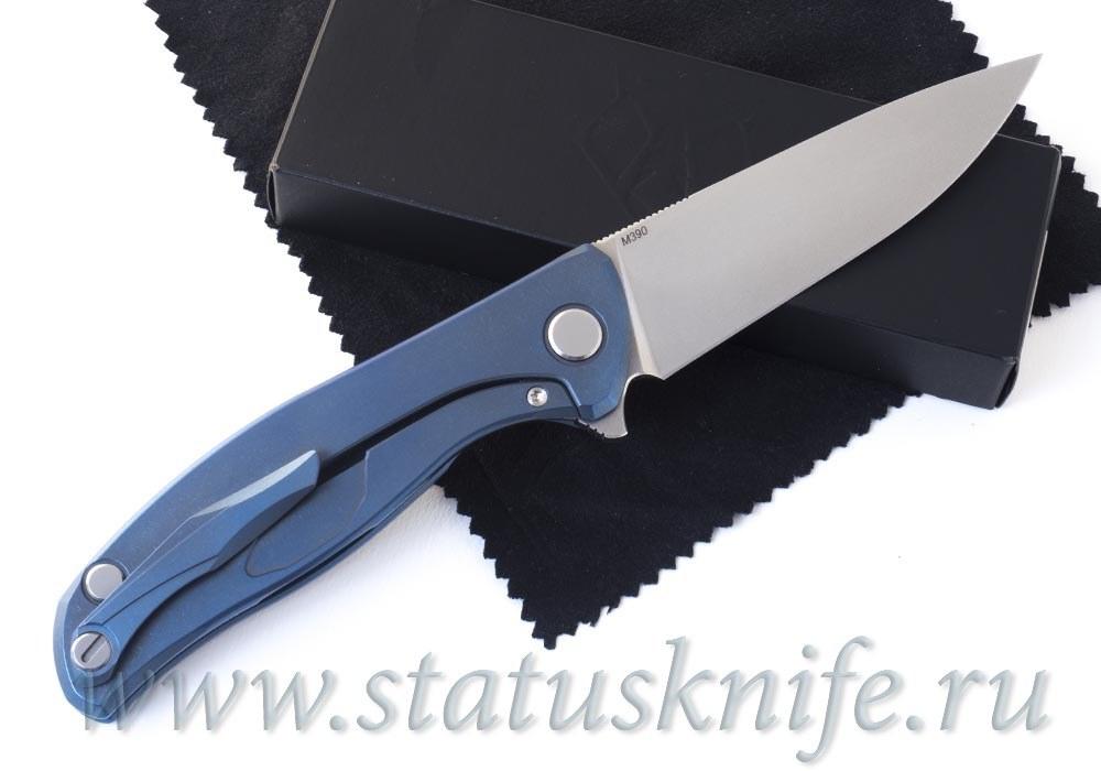 Нож Широгоров Флиппер 95 М390 синее анодирование - фотография