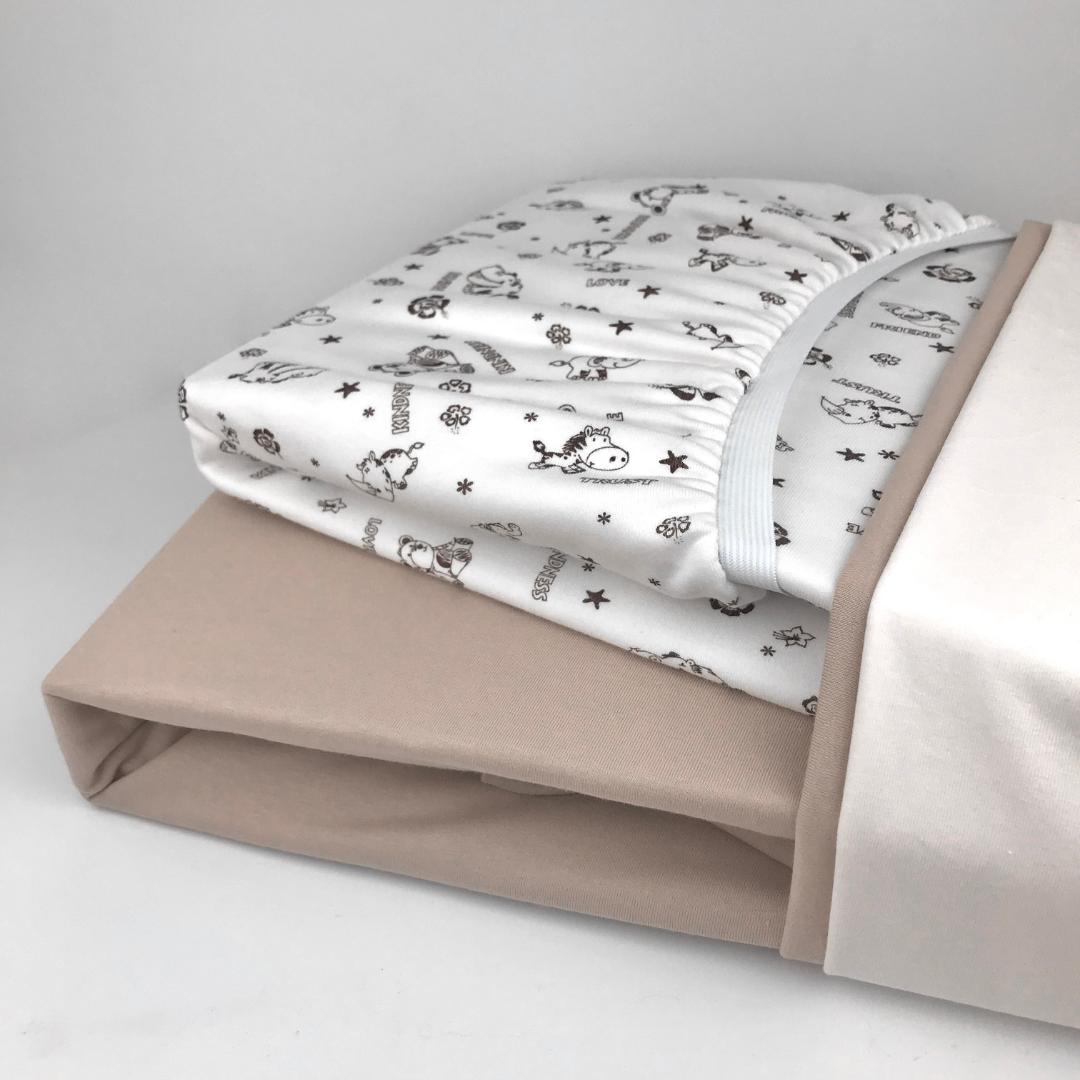 PREMIUM весёлое сафари - Детская простыня на резинке 80х160