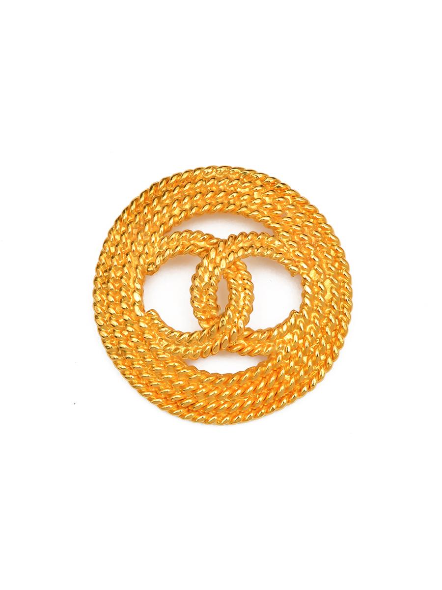 Брошь Chanel 1986- 1992 г., покрытый 24-х каратным золотом