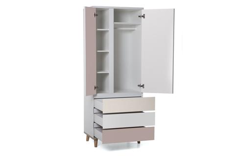 Шкаф LX 33 розовый антик