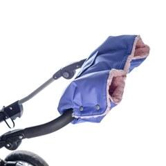 Муфта для коляски Farla Basko сиреневая с розовым мехом
