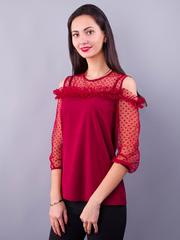 Жанна. Весняна молодіжна блуза. Бордо