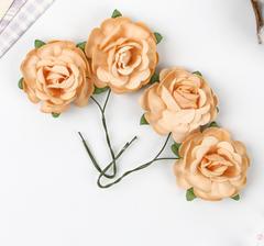 Розы из бумаги чайные 4 см, букет 4 шт.