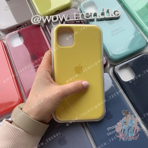 Чехол iPhone 11 Silicone Case Full /canary yellow/