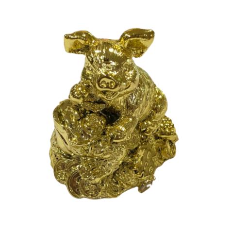 Свинка золотая на жабе мини