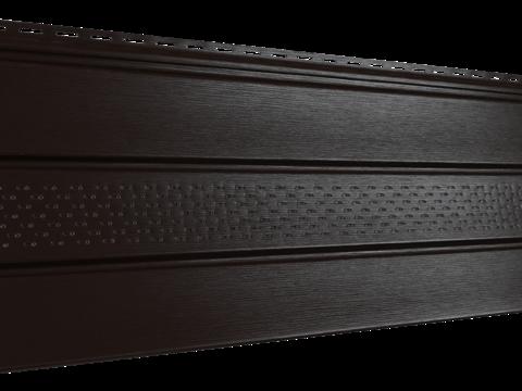 Софит Ю пласт PRO коричневый с частичной перфорацией