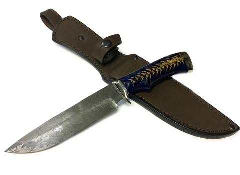 Авторский нож Газель, сталь PGK, рукоять композит, литьё - латунь