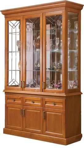 Шкаф с витриной 3 дв. Олимпия