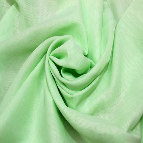 Ткань вуаль однотонная для штор - салатовая. Ш - 300 см. Арт. -ETR 44