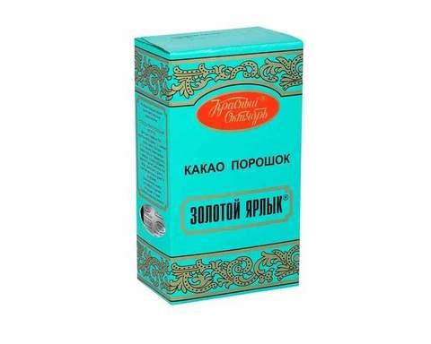 Какао Красный Октябрь Золотой ярлык, 100г