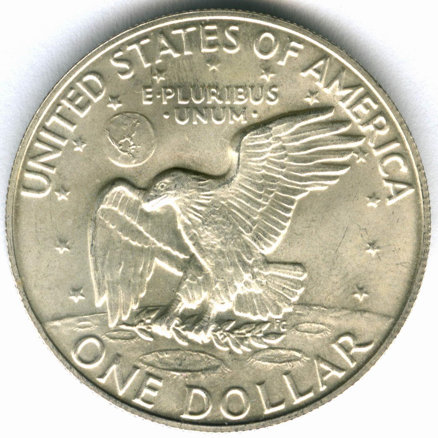 1 доллар 1973 год. (S) США Эйзенхауэр (лунный) AU