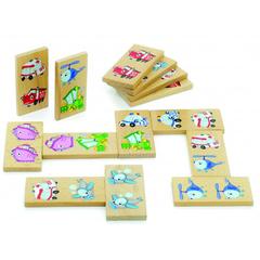 Игрушки из дерева Деревянное домино
