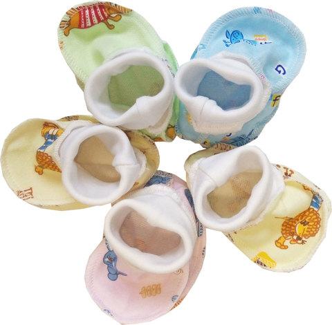 Папитто. Пинетки для новорожденного из футера