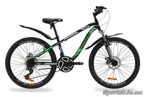 Горный универсальный велосипед Discovery Flint AM DD - черно-зеленый