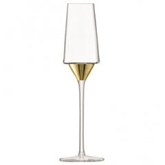 Набор из 2 бокалов-флейт для шампанского Space, 210 мл, золото, фото 4