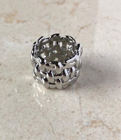 Кольцо Филамент, серебряный цвет