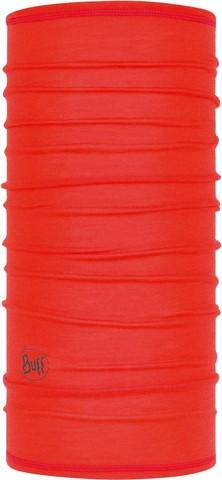 Тонкий шерстяной шарф-труба Buff Wool lightweight Solid Fire фото 1