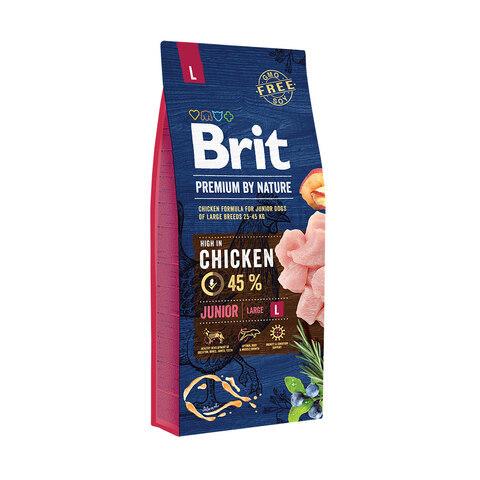 Купить сухой корм Brit Premium by Nature Junior L для молодых собак (1–24 месяцев) крупных пород