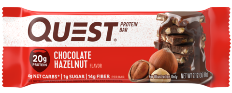 Протеиновые батончики QuestBar Chocolate Hazelunt (Шоколадный батончик с фундуком), 12 шт