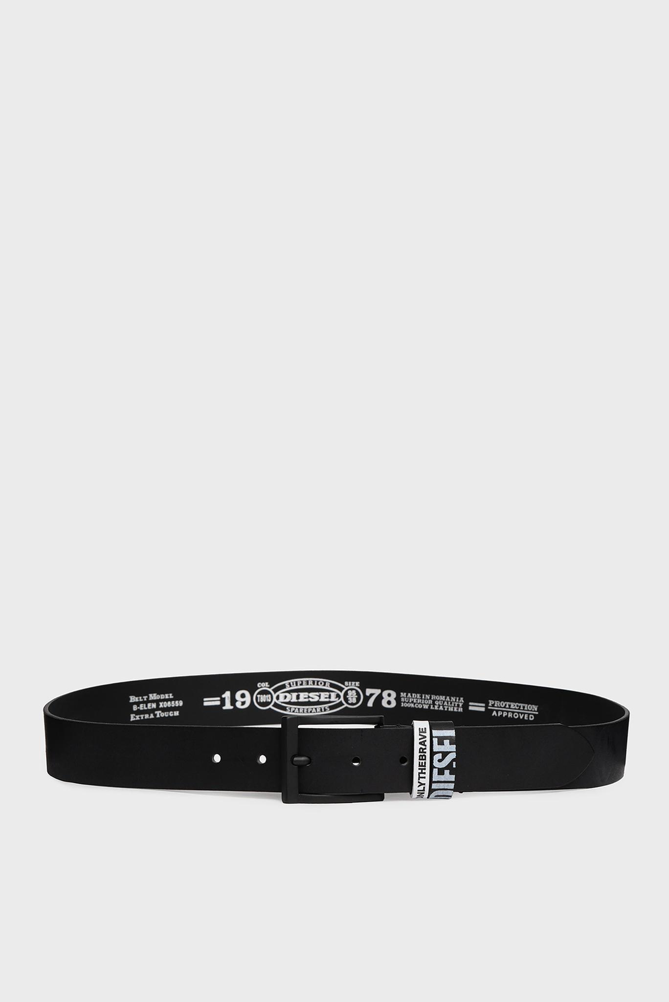 Мужской черный кожаный ремень B-ELEN Diesel