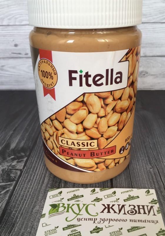 Паста Fitella арахис. классическая 800г