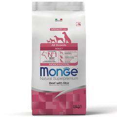 Корм для собак Monge Dog Monoprotein с говядиной, рисом и картофелем