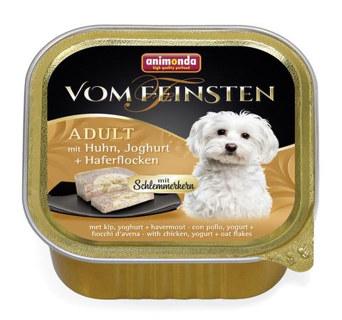 Консервы Animonda Vom Feinsten Adult Меню для гурманов с курицей, йогуртом и овсяными хлопьями для взрослых привередливых собак