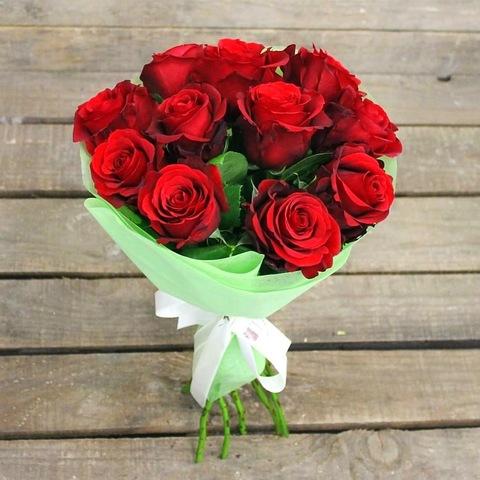 11 красных роз 50 см (BgFlora) #21969