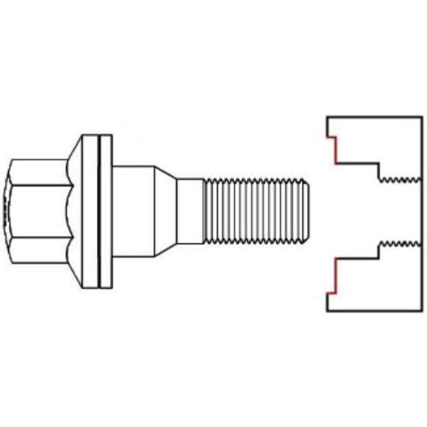 Болт колёсный М12x1.25 длина=19мм ключ=17мм хром