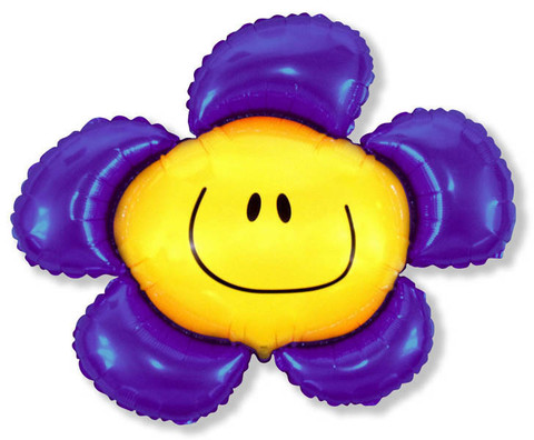 Фольгированный шар Цветочек фиолетовый