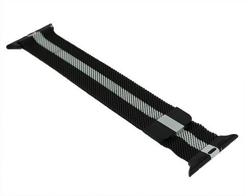 Ремешок для Apple Watch 42mm/44mm миланская петля | черно-белый