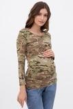 Лонгслив для беременных и кормящих 09169 зеленый