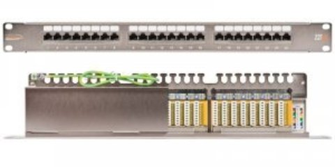 Патч-панель NIKOMAX NMC-RP24UE2-1U-BK