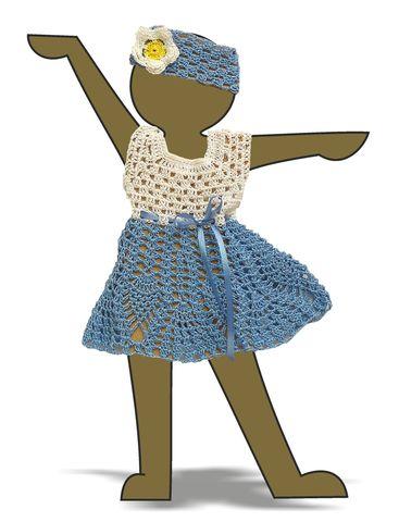 Вязаное платье - выставочный образец. Одежда для кукол, пупсов и мягких игрушек.