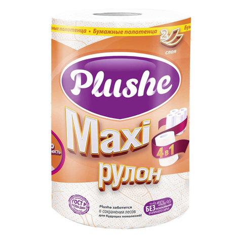 "Полотенце бумажное ""Plushe"" Maxi 2сл 1шт"