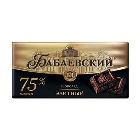 Шоколад Бабаевский элитный 75% какао, 200 гр.