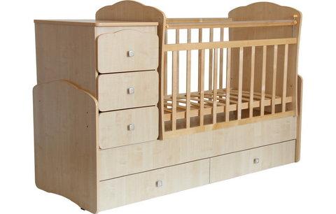 Кровать детская Фея 2100 клён