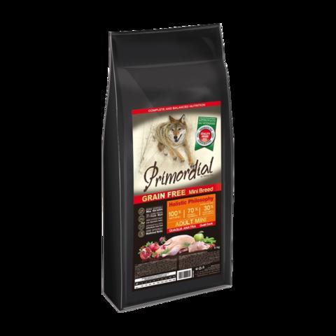 Primordial Mini Adult Сухой корм для собак мелких пород с перепелкой и уткой (беззерновой)