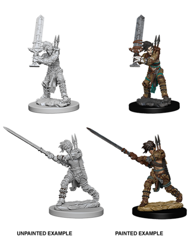 Pathfinder Battles Deep Cuts Unpainted Miniatures - Female Human Barbarian