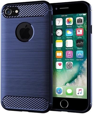 Чехол для iPhone 7 (iPhone 8) цвет Blue (синий), серия Carbon от Caseport