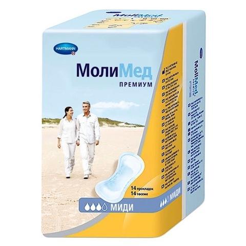 Hartmann. Прокладки послеродовые MOLIMED Premium Midi, 1уп/14 шт
