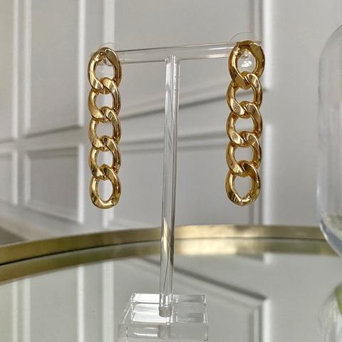 Серьги-подвески в виде цепей (золотистый)