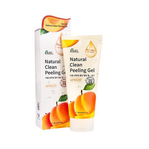 Ekel Apricot Natural Clean Peeling Gel пилинг-скатка для лица с экстрактом абрикоса